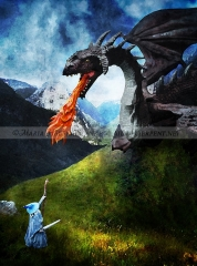 Gandalf vs. Dragon