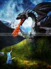 Gandalf vs. Dragon
